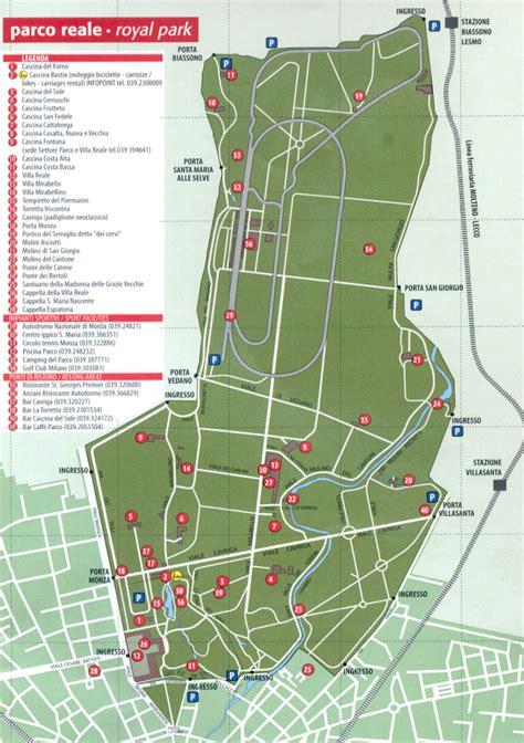 Autodromo Di Monza Ingresso Vedano by Cartina Parco Reale Di Monza