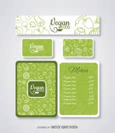 free food menu templates vegan food restaurant menu template vector