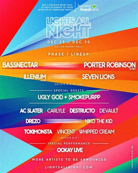 lights all night 2016 lineup festival lights all night dallas tex edmcalendar com