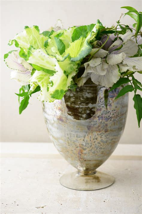 Glass Floral Vases by Mercury Glass 8 5 Quot Embrace Glass Floral Vase