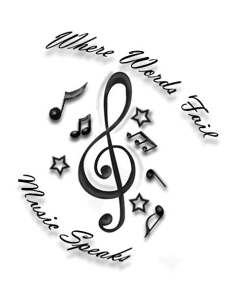 when words fail music speaks tattoo where words fail speaks by onebullettotheheart on