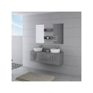 meuble salle de bain ref dis622gt coloris gris taupe