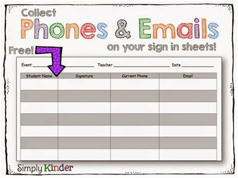 mailing list sign up card template meet the sign in sheet and the on