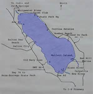 kayaking the salton sea map