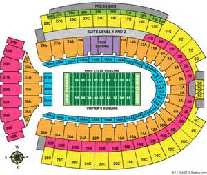 Ohio State Stadium Map by Discount Theatre Tickets Discount Sports Tickets Cheap