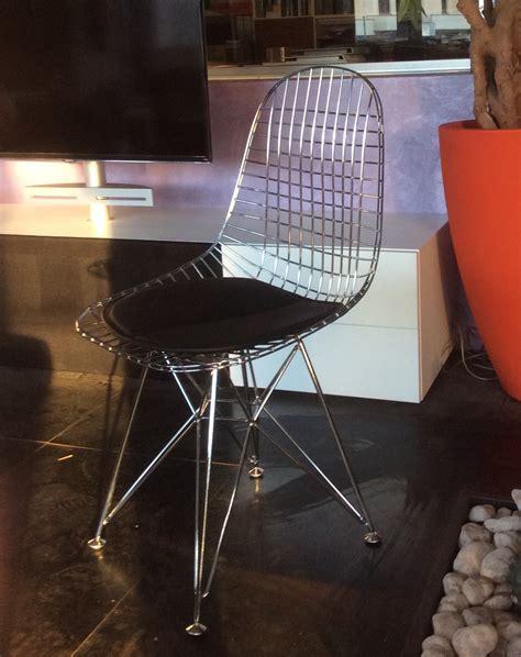 sedie in acciaio e pelle sedia eames design in acciaio cromato lucido e cuscinetto
