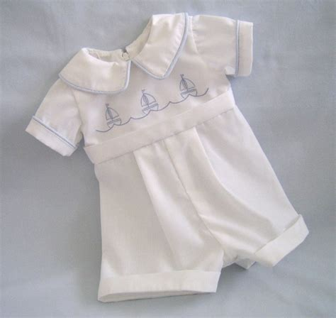 Romper Baby Style heirloom style baby boy christening romper size newborn to 3 mo embroidered rompers
