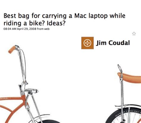 best bag for carrying a mac laptop while riding a bike