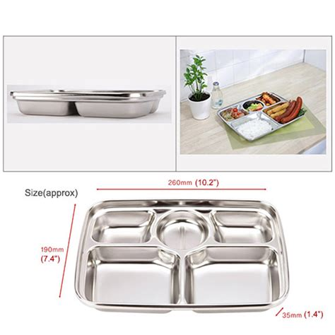 Carnation Home Cleaning by Stainless Steel Food Snack Tray Hygienic Lunch Side Dish