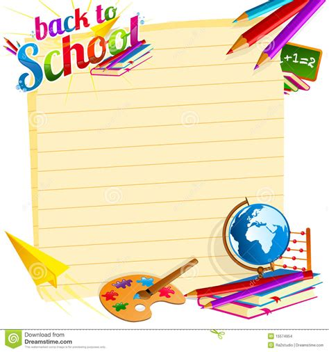 Back To School Template Stock Images Image 15574954 Back To School Template