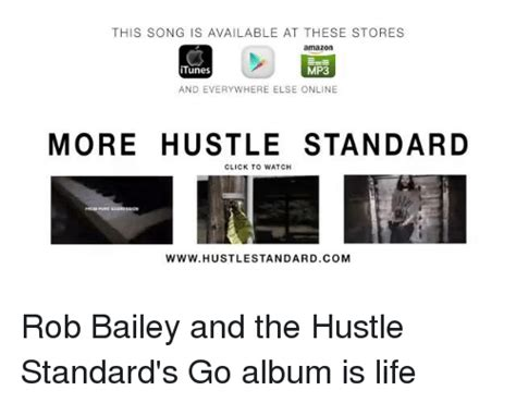 rob bailey the hustle standard album itunes memes of 2016 on sizzle apple