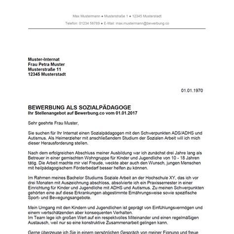 Anschreiben Bewerbung Sozialpädagoge Bewerbung Als Sozialp 228 Dagoge Sozialp 228 Dagogin Bewerbung Co