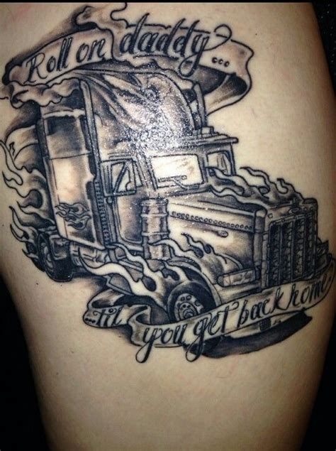 semi truck tattoo designs 25 best trucker tattoos images on trucker