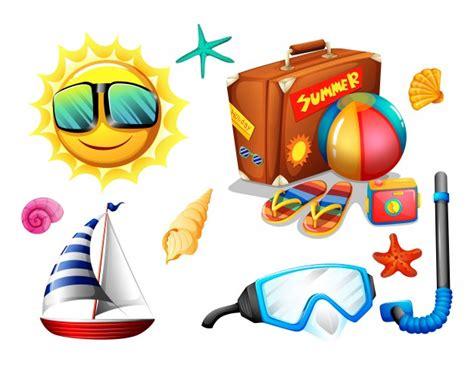 imagenes de vacaciones gratis objetos de vacaciones de verano y paquete de viaje