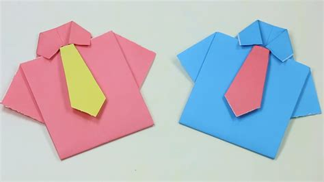 How To Make A Origami Tie - how to make paper shirt and tie easy origami how to make