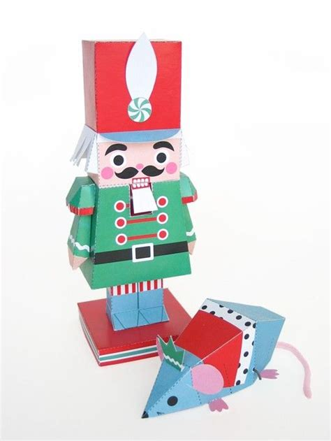 Paper Crafts Pdf - nutcracker and mouse king toys printable paper