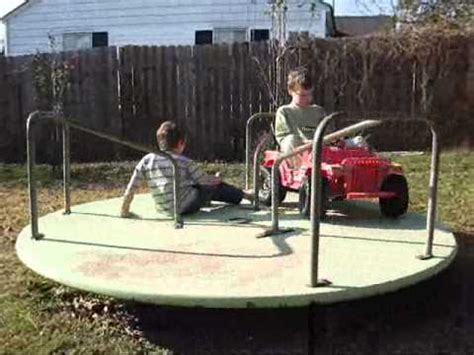 backyard merry go round kids backyard merry go round youtube
