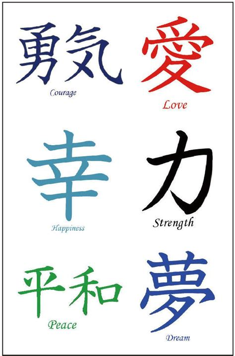 36 premium kanji tattoos japanese chinese asian characters