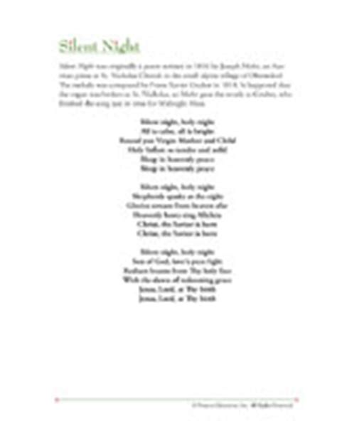 printable lyrics to silent night christmas song lyrics silent night printable familyeducation