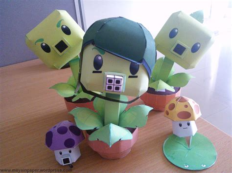 Plants Vs Zombies Paper Crafts - plants vs zombies paper crafts