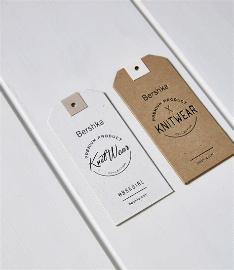 brand name tag design bershka aw15 183 16 hang tags on behance