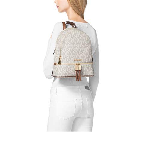 Michaelkors Rhea Backpack lyst michael kors rhea small backpack in white