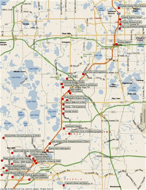 map of tourist attractions orlando map tourist attractions travelsfinders
