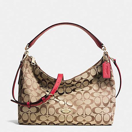 Coach Celeste coach f36716 east west celeste shoulder bag in signature imitation gold khaki classic