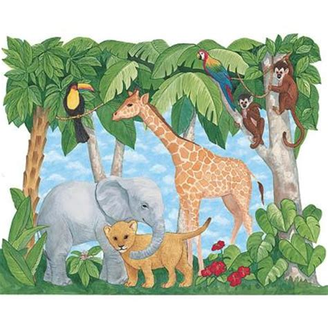 luxury bedroom ideas baby animals jungle mural 72001 home