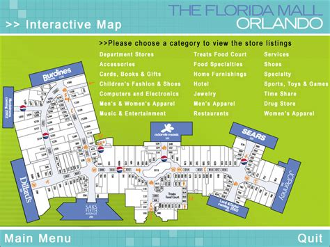 layout of florida mall orlando fl the portfolio of orlando web designer todd adams