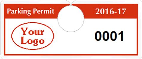 All Horizontal Hanging Parking Permits Printable Parking Pass Template