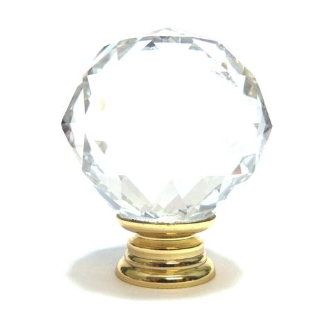 clear faceted glass cupboard door knob by pushka