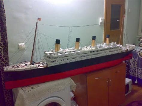 How To Make A Titanic Model Out Of Paper - titanic model made from cardboard