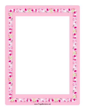 Baby Pinkis This Baby Border In Tones Of Pink Features Many Items