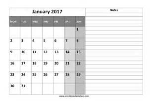 Calendar Template 2017 Publisher 2017 Calendar With Notes Printable Templates Get
