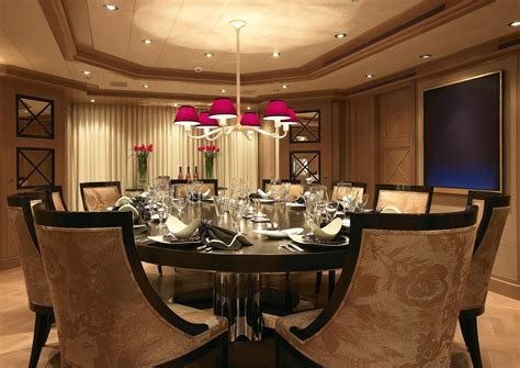 dining room interiors feadship yacht secret interior superyachts news luxury