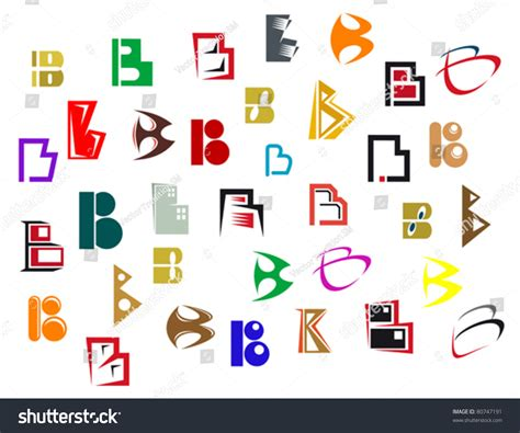 Letter Elements Set Of Alphabet Symbols And Elements Of Letter B Also As Emblem Such A Logo Jpeg Version