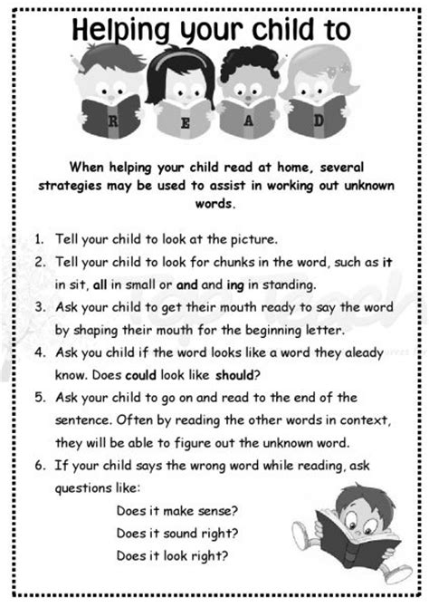 Parent Letter Reading Strategies home reading letter for parents print it and send it