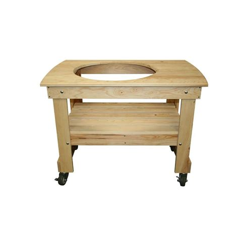 vision grills small cypress wood kamado table vg htcsou1