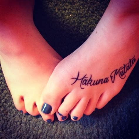 hakuna matata tattoo my obsession my hakuna matata tattoos