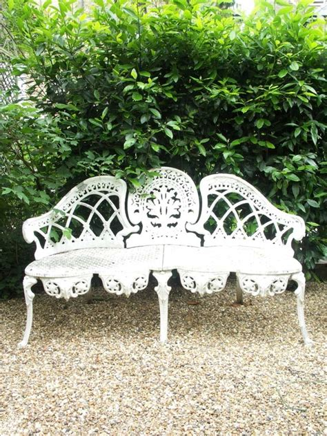 beautiful garden benches victorian wrought iron garden furniture pinterest