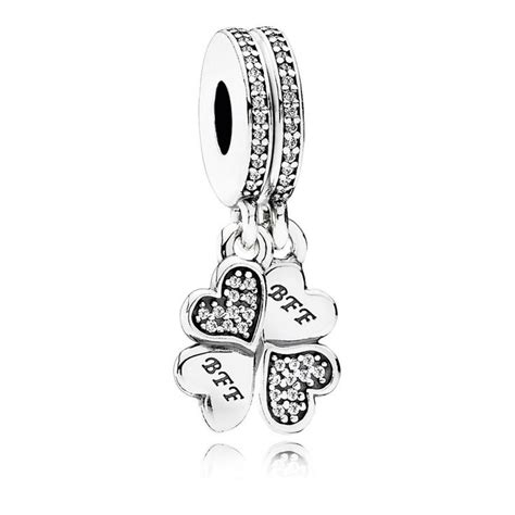 925 sterling silver best friends forever dangle charm bead