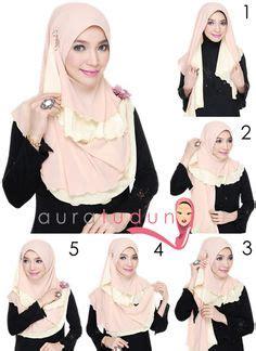 tutorial jilbab lcb instant shawl 2 loops hijab tutorial pinless hijabs