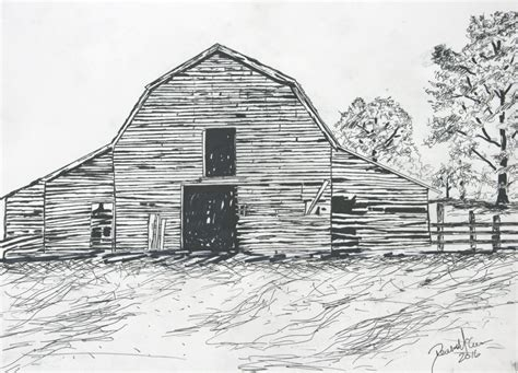 Black And White Barn Drawing here s what your unconscious scribbles say about you