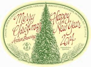 anchor brewing merry christmashappy  year bottle  beer syndicate