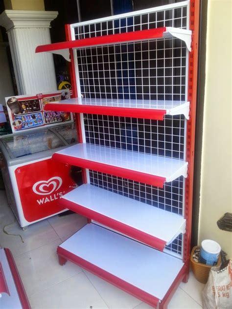 Rak Gondola Single jv shelving produksi perlengkapan rak supermarket dan