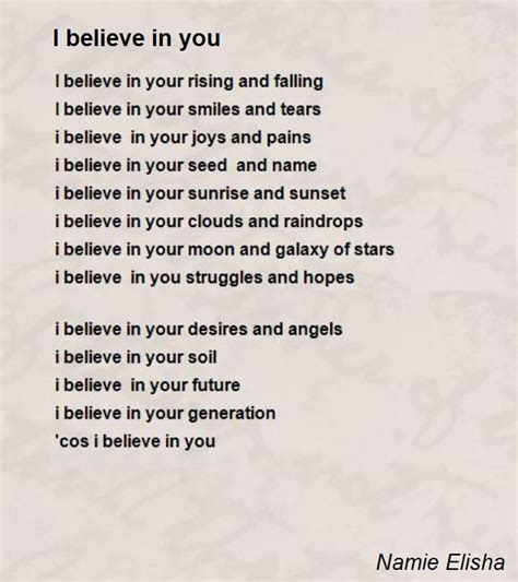 i believe in you images i believe in you poem by namie elisha poem