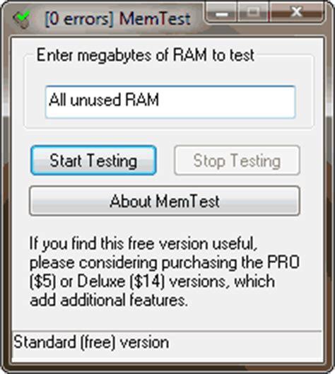 ram test utility memtest ram reliability tester for windows