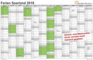 Kalender 2018 Querformat Ferien Saarland 2018 Ferienkalender Zum Ausdrucken