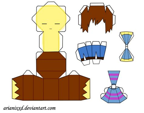 Papercraft Cutouts - base papercraft de frisk undertale by arianixxd on